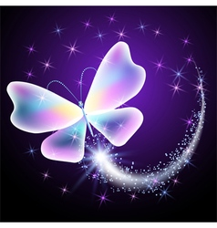 Glowing butterflies vector