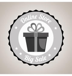 Commercial seal online store isolated icon design vector