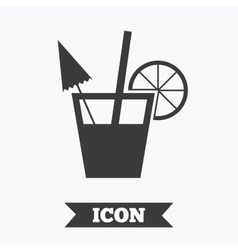 Cocktail sign alcoholic drink symbol vector