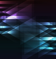 Abstract dark multicolor motion arrow overlap vector