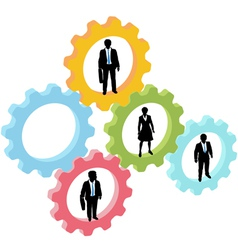 business people technology concept vector image vector image