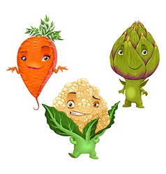 Carrot cauliflower and artichoke vector