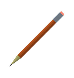 cartoon pencil icon schools supplies isolated vector image vector image