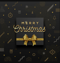 christmas holiday design vector image vector image