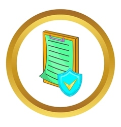 Clipboard with insurance form icon vector image