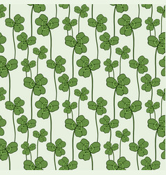 Clover seamless pattern swatch for fabric vector
