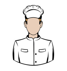 cook icon cartoon vector image