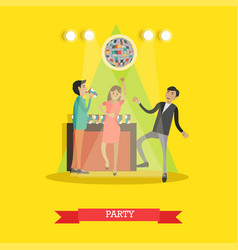 Disco party in flat style vector