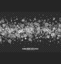 Flying snowflakes effect vector
