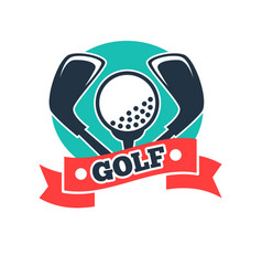 Golf club or golfer country sport team icon vector