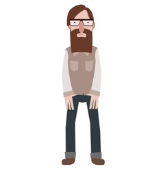 Hipster character vector image vector image
