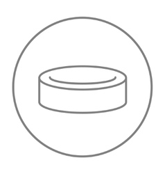 Hockey puck line icon vector image vector image