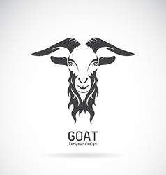 Image of a goat head design vector image vector image