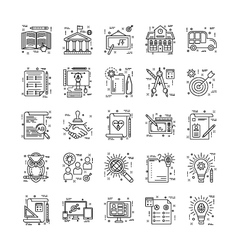 Line Icons With Detail 4 vector image vector image