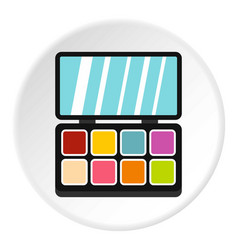 Palette eye shadow icon circle vector