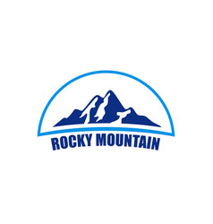 rocky mountain logo vector image