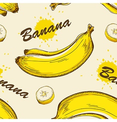 seamless pattern with bananas vector image vector image