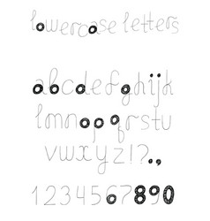 set with alphabet letters sequence from a vector image vector image