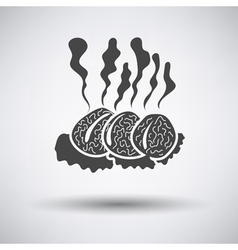 Smoking cutlets vector