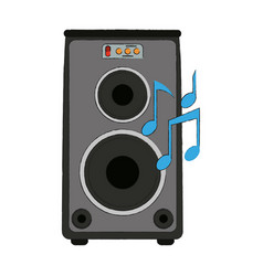 speaker amplifier technology vector image
