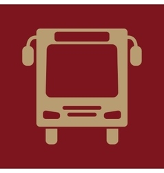 The bus icon travel symbol flat vector