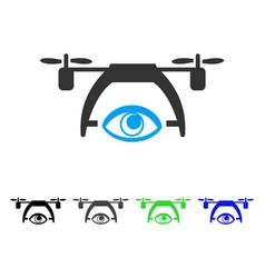 Video spy drone flat icon vector