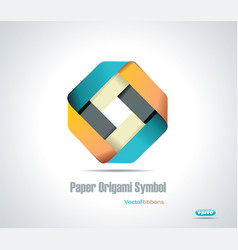 Corporate icon rhombus ribbon vector