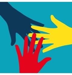 Teamwork community social design flat concept vector
