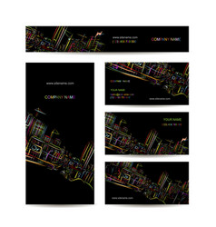 Business cards design night city vector