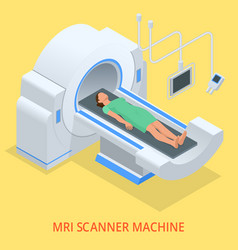 Magnetic resonance imaging mri of the body flat vector
