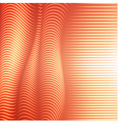 warped dotted lines background vector image