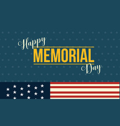Background of memorial day event style vector
