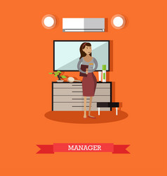 Hotel manager concept in flat vector