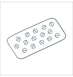 Tablets pills in a blister pack isolated on white vector