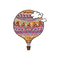 Decorated balloon vector