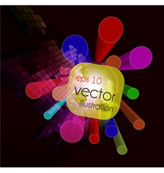 3d colorful background vector image vector image