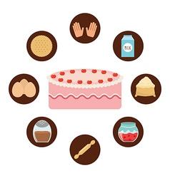 Delicious cake design vector