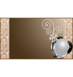 Art deco coffee and tea vector
