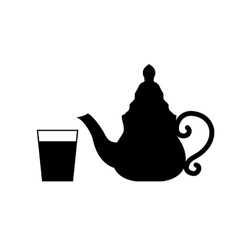 Teapot isolated on white vector