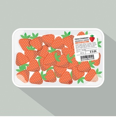 Strawberry pack vector