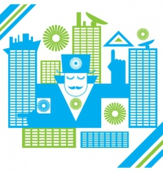 Abstract male in the city vector
