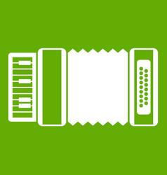 Accordion icon green vector