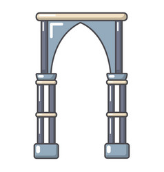 Archway construction icon cartoon style vector