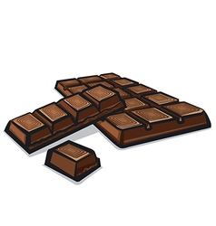 bar of chocolate vector image vector image