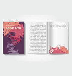 book design template vector image vector image