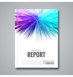 Business template for brochure flyer report or vector image vector image