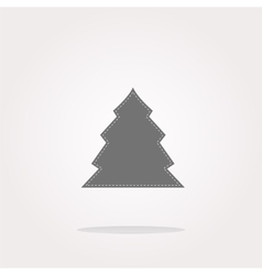 button with christmas tree on it Web Icon vector image vector image