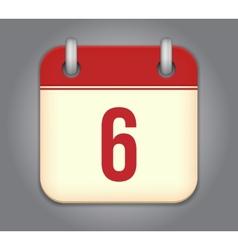 calendar app icon vector image vector image