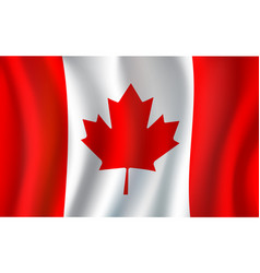 canadian flag maple leaf 3d symbol of canada vector image vector image