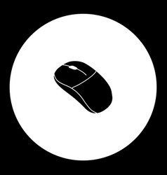 Computer input mouse peripheral simple black icon vector